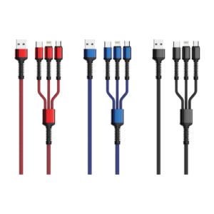 1.2M / 3.4A / 3 in 1 Ultra Strong Data Cable
